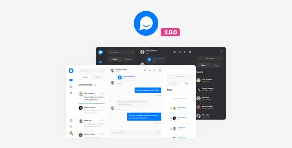 Chat Website Templates from ThemeForest