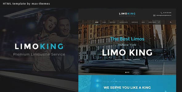 Limo King - Car Hire Template - Corporate Site Templates