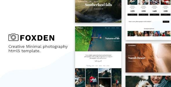 Foxden - Photography Portfolio Template - Photography Creative