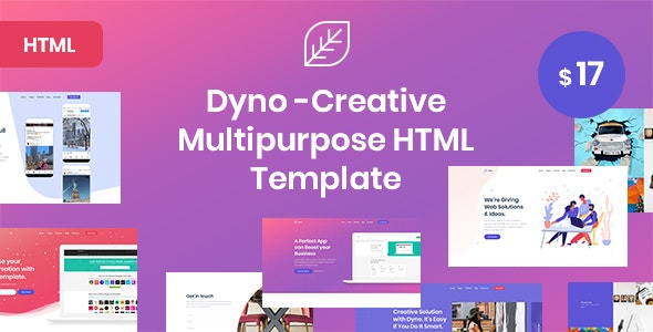 Dyno - Creative Multipurpose Html5 Template - Creative Site Templates