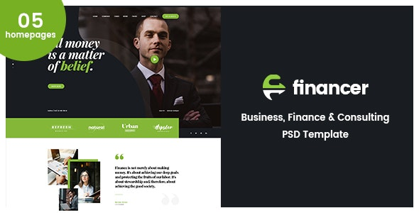 Financer | Business Consulting & Finance PSD Template - Business Corporate