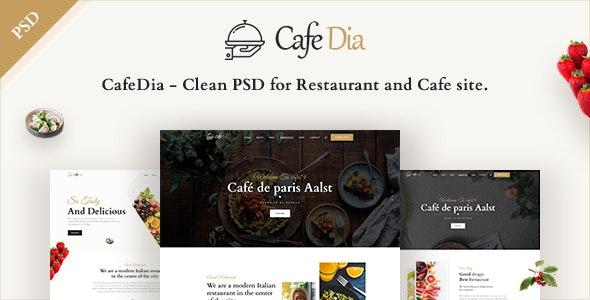 CafeDia- Restaurant PSD templates - Restaurants & Cafes Entertainment