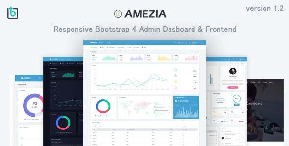 Amezia - Responsive Admin & Dashboard Template - Admin Templates Site Templates