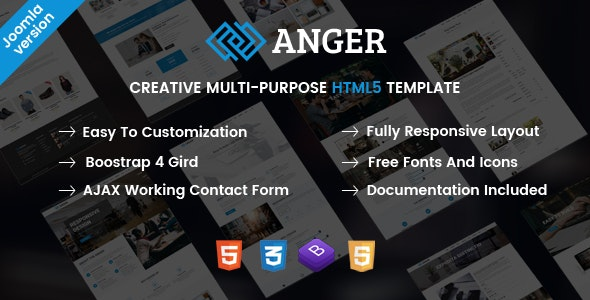 Anger - Creative Responsive Multi-Purpose Joomla Template - Business Corporate