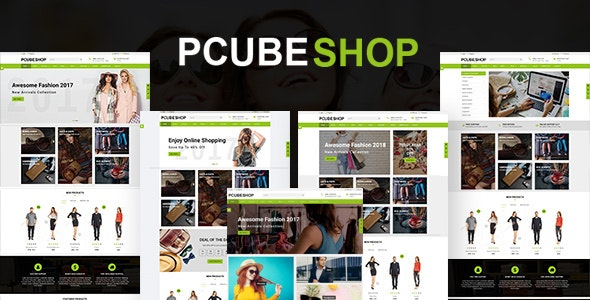 Pcube Shop Ecommerce HTML5 Template - Retail Site Templates