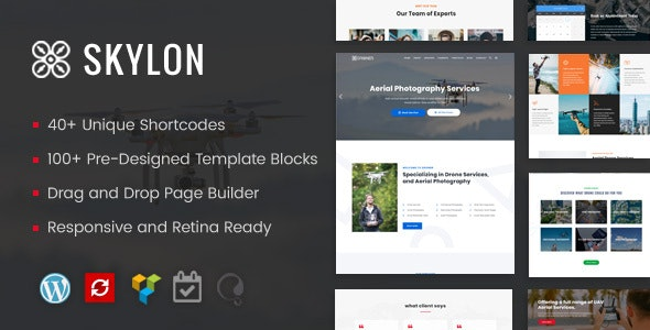 Skylon - Drone Aerial Photography & Videography WordPress Theme - Technology WordPress