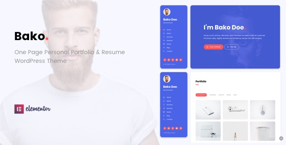 Bako - Personal Portfolio & Resume WordPress Theme - Portfolio Creative