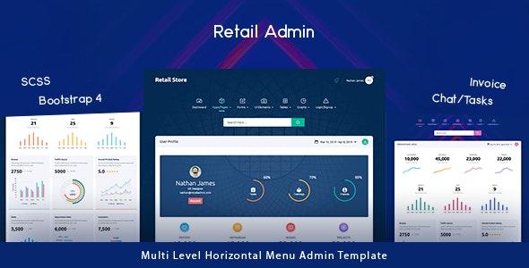 Retail Store - Next Generation Bootstrap 4 Admin Template - Admin Templates Site Templates