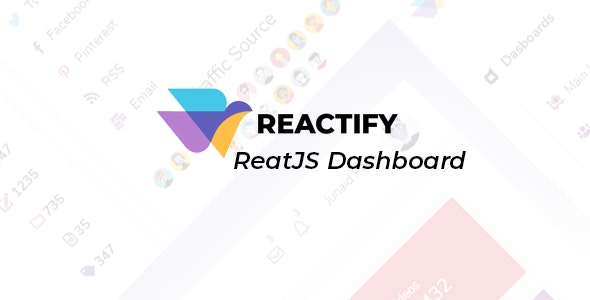 Reactify - Powerful React Admin Template - Admin Templates Site Templates