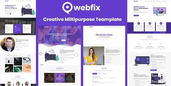Webfix - Creative Multipurpose Template - Creative Site Templates