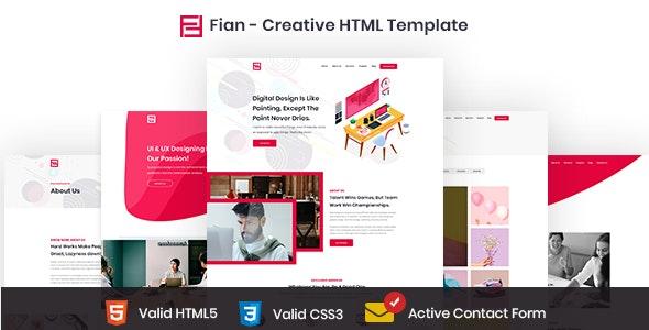 Fian - Creative HTML5 Template - Creative Site Templates