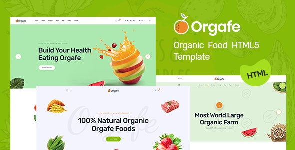 Orgafe - Organic Food HTML5 Template - Retail Site Templates