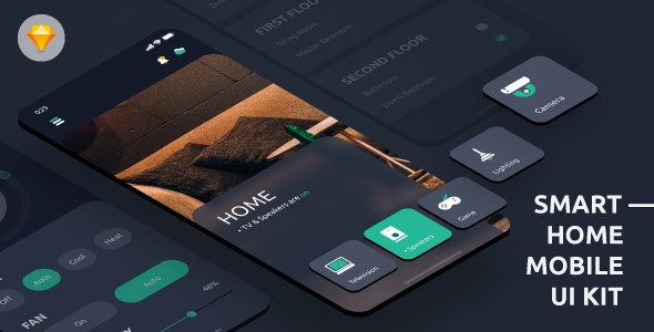Aurorab - Automatic Home Mobile App - Sketch Templates