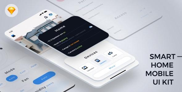 Auroraw - Automatic Home Mobile App - Sketch UI Templates