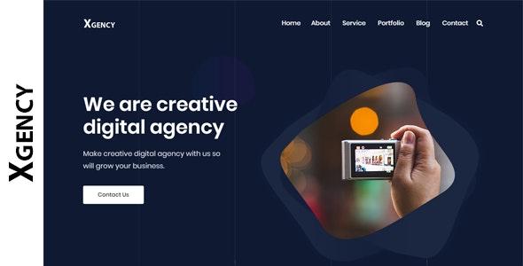 Xgency - Digital Agency HTML Template - Business Corporate