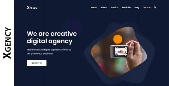Xgency - Digital Agency HTML Template