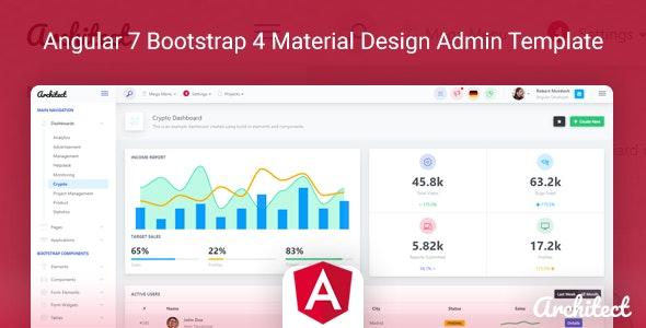 ArchitectUI - Angular 7 Bootstrap 4 Material Design Admin