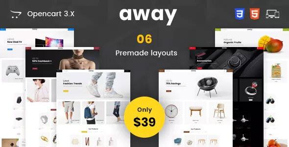 Away - Multipurpose Responsive Opencart 3.0 Theme - Miscellaneous OpenCart