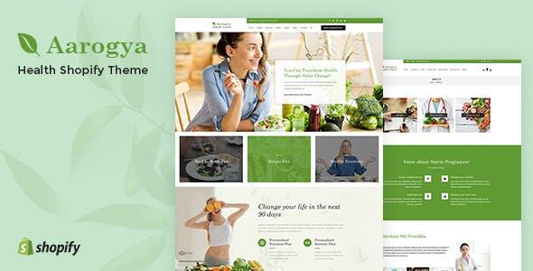 Aarogya   Healthcare Nutrition and Wellness Shopify Theme