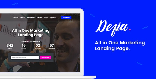 Defia - All In One Marketing Landing Page - Marketing Corporate