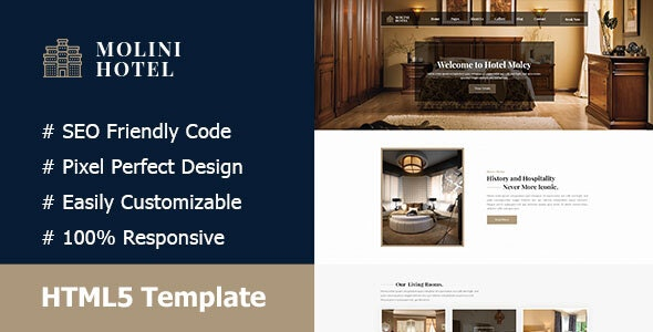Molini- Hotel And Resort Responsive HTML5 Template - Travel Retail