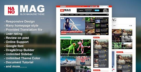 NanoMag - Responsive WordPress Magazine Theme