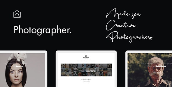 Photographer WordPress Theme - Photography Creative