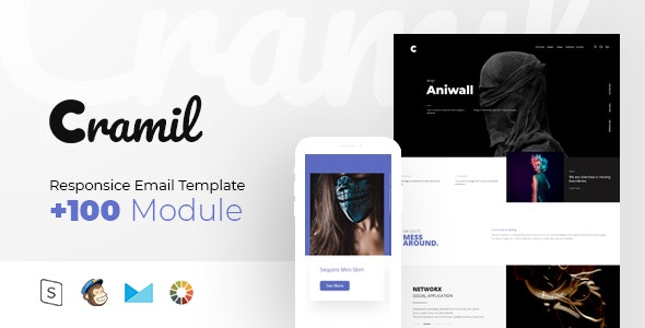 Cramil - Multipurpose Responsive - Newsletters Email Templates