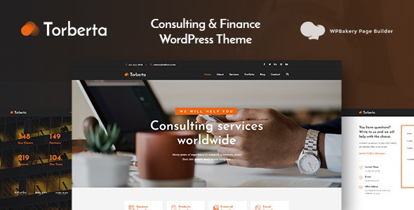 Torberta - Consulting & Finance WordPress Theme - Business Corporate