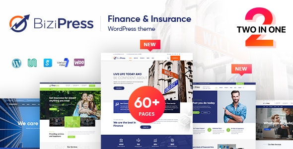 BiziPress - Finance Insurance Agency WordPress Theme - Business Corporate