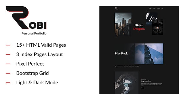 Robi - Creative and Personal Portfolio HTML5 Template - Portfolio Creative