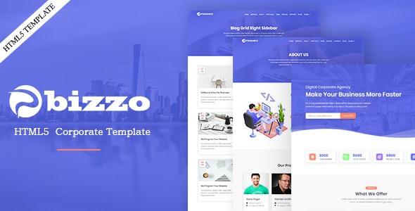 Bizzo-Business and Corporate Multipurpose HTML Template - Corporate Site Templates