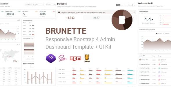 Brunette - Responsive Bootstrap 4 Admin & Powerful UI Kit - Admin Templates Site Templates