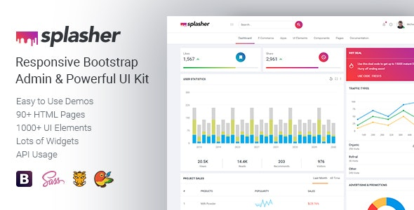 Splasher - Responsive Bootstrap Admin & Powerful UI Kit by