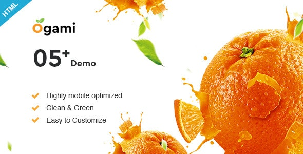 Ogami - Multipurpose Organic Store & Bakery HTML Templates - Food Retail