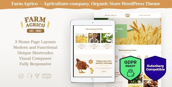 Farm Agrico | Agricultural Business WordPress Theme - Food Retail