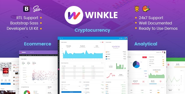 Winkle - Responsive Bootstrap Admin & Powerful UI Kit - Admin Templates Site Templates