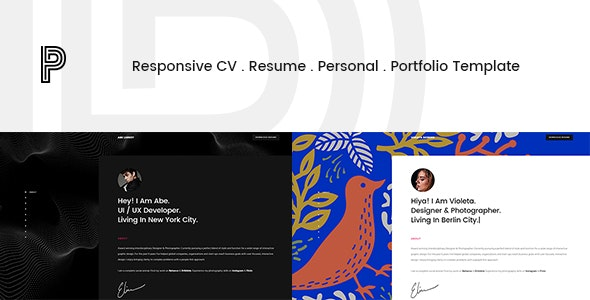 Penelope - Responsive CV / Resume / Personal / Portfolio Template - Resume / CV Specialty Pages