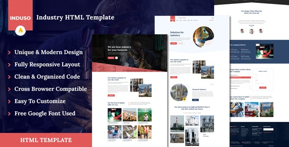 Induso - Industry HTML Template - Business Corporate