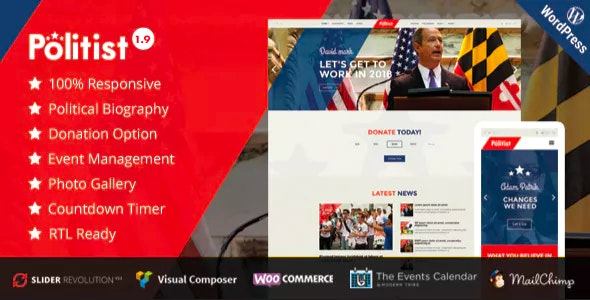 Politist - Political WordPress Theme for Parties, Candidates, & Campaigns - Political Nonprofit