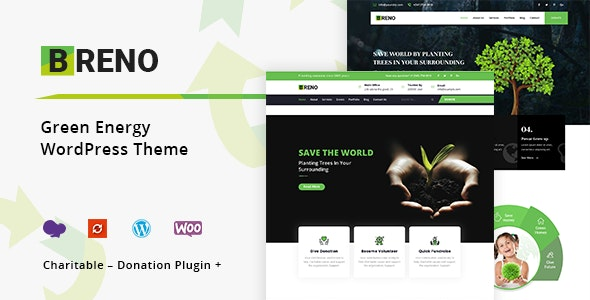 Breno - Green Energy WordPress Theme - Environmental Nonprofit