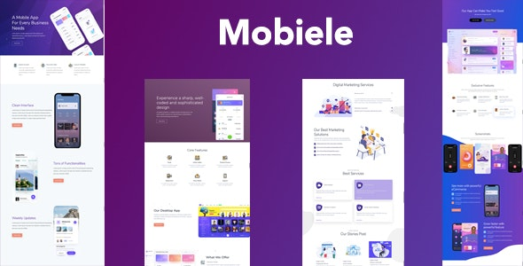 Mobiele - Mobile App Landing Page - Technology Site Templates