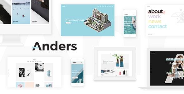 Anders - Design Portfolio Theme - Portfolio Creative
