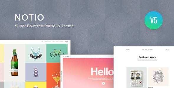 Notio - Creative Portfolio WordPress Theme - Portfolio Creative