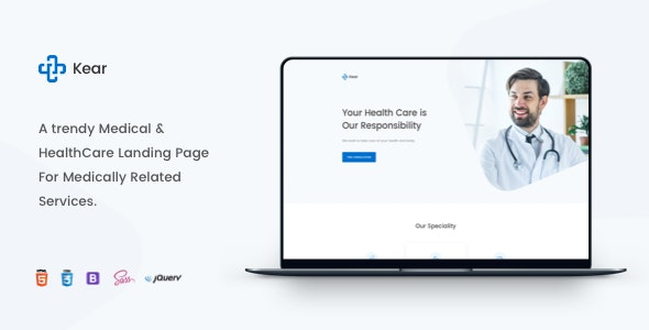 Kear - Medical & Healthcare Landing Page Template - Health & Beauty Retail