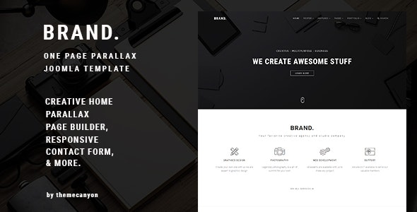 BRAND, - Creative One Page Parallax Joomla Template - Creative Joomla