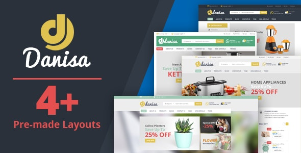 Danisa - Theme for WooCommerce WordPress - WooCommerce eCommerce