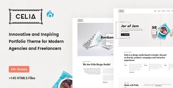 Celia - Innovative and Inspiring Portfolio Drupal 8.8 for Modern Agencies and Freelancers - Drupal CMS Themes
