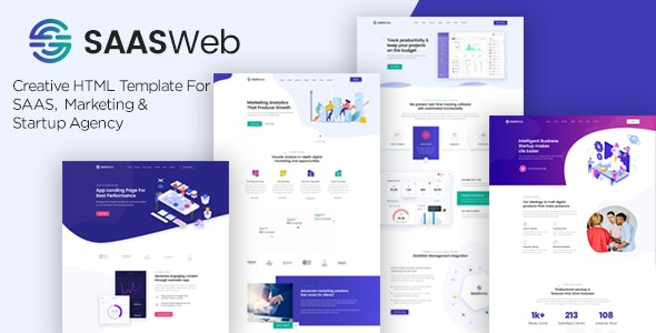 Saasweb - Saas &Startup HTML Template - Software Technology