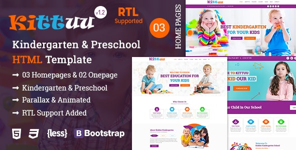 Kittuu - Kindergarten & Preschool Education HTML Template - Business Corporate